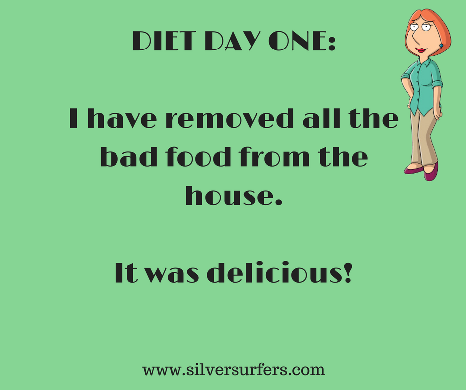 DIET DAY ONE-I have removed all the bad food from the houseIt was delicious!
