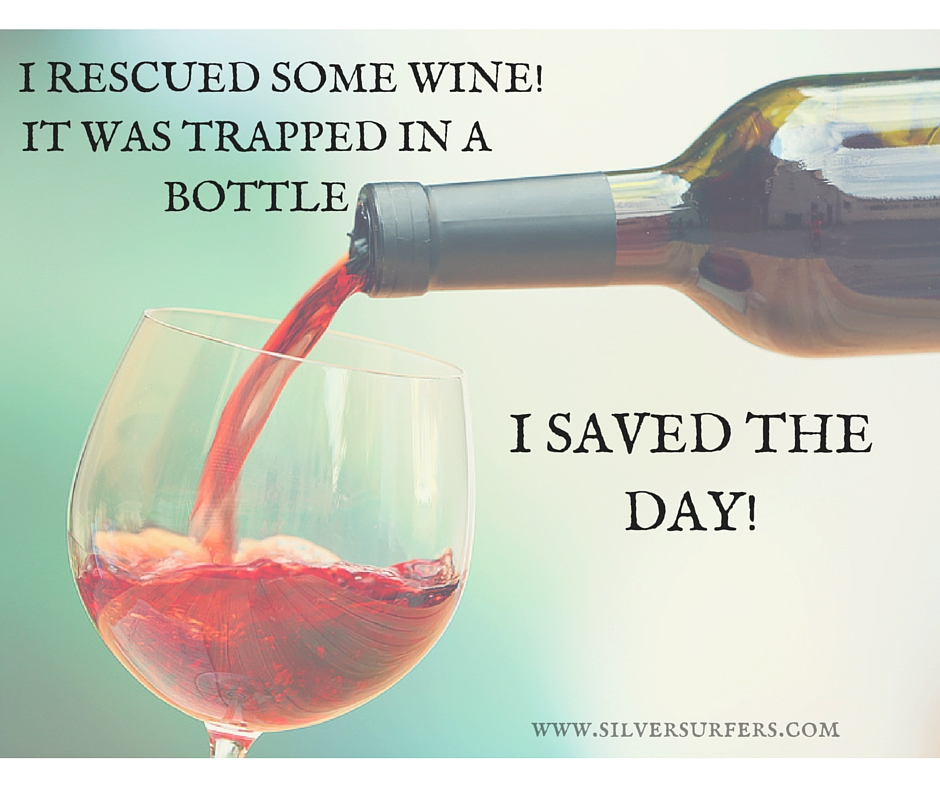 I rescued some WINE!