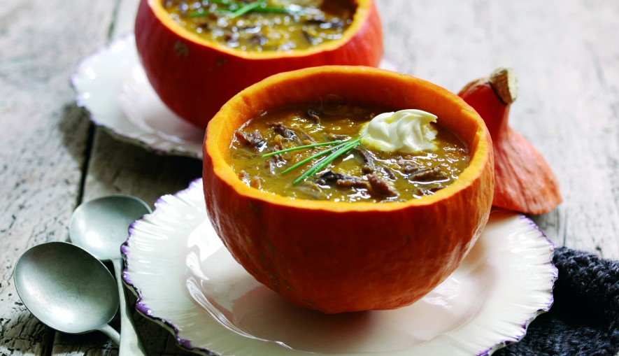Spiced Beef, Pumpkin and Carrot Soup