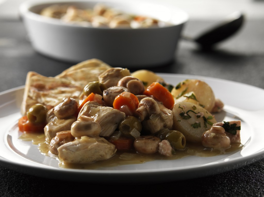 Chicken Mushroom and Olive Casserole