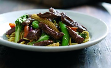 Here is a speedy stir fry supper dish using lamb stir fry strips and a ...