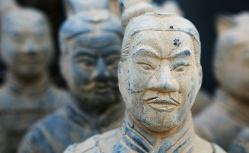 Close Up of Terracotta Warriors in Xian