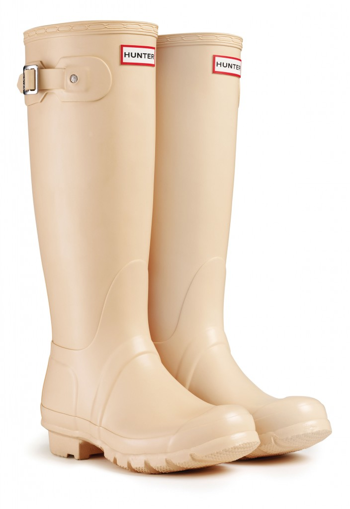 Hunter Original Tall wellington boots in Biscuit, £85 (www.hunter-boot.com)