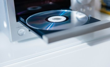 Cd Player With Open Tray And Disc Inside