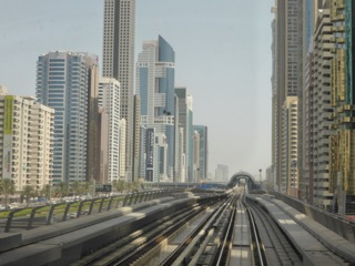 Dubai, train journey