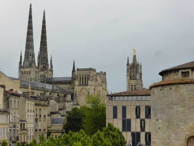 Bordeaux - the skyline and Cathedral
