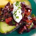 Avocado-filled-with-lime-beetroot