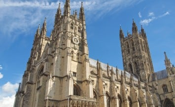 The Canterbury Cathedral in Kent