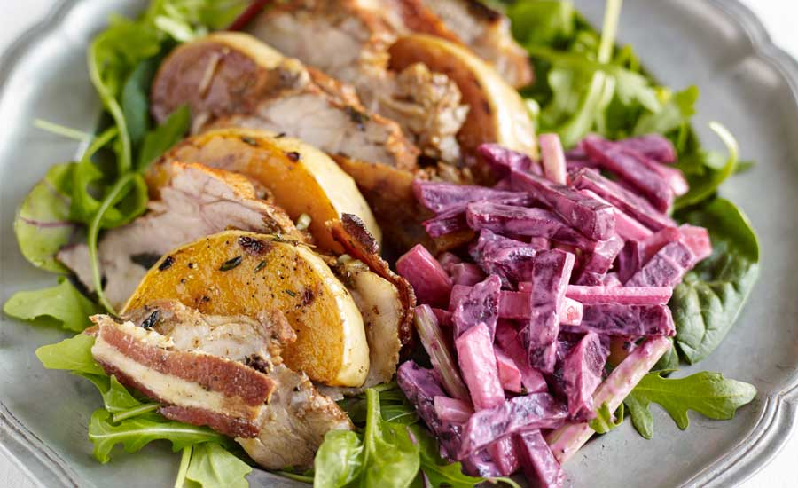 Hot-lemon-roast-pork-salad