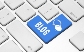 Blog key on the computer keyboard