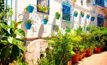 Torremolinos. Costa del Sol, Andalucia. Typical White Village wi