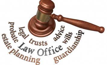 Gavel with legal concepts of estate planning probate wills attor