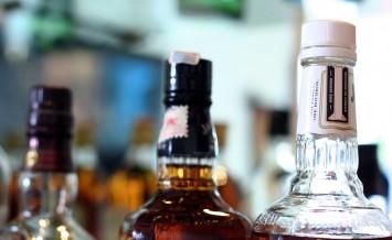 Whisky Bottles At Bar