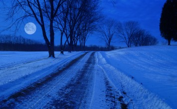 Winter Night And Old Lane