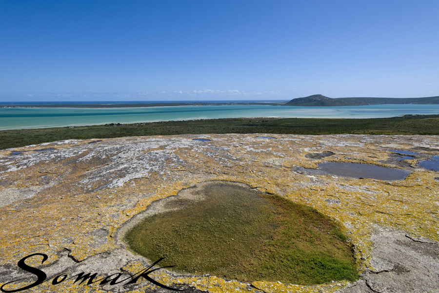 View from rocky outcrop over Langebaan lagoon
