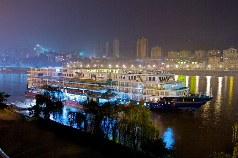 Yangtze Dock at night