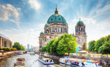 Berlin Cathedral. German Berliner Dom. A famous landmark on the
