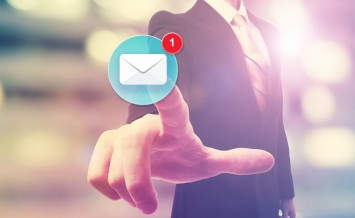 Businessman Pointing At Email Icon
