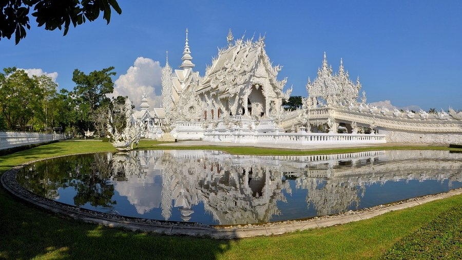 Wat Rong Khun - White Temple, is a contemporary unconventional Buddhist temple in Chiang Rai
