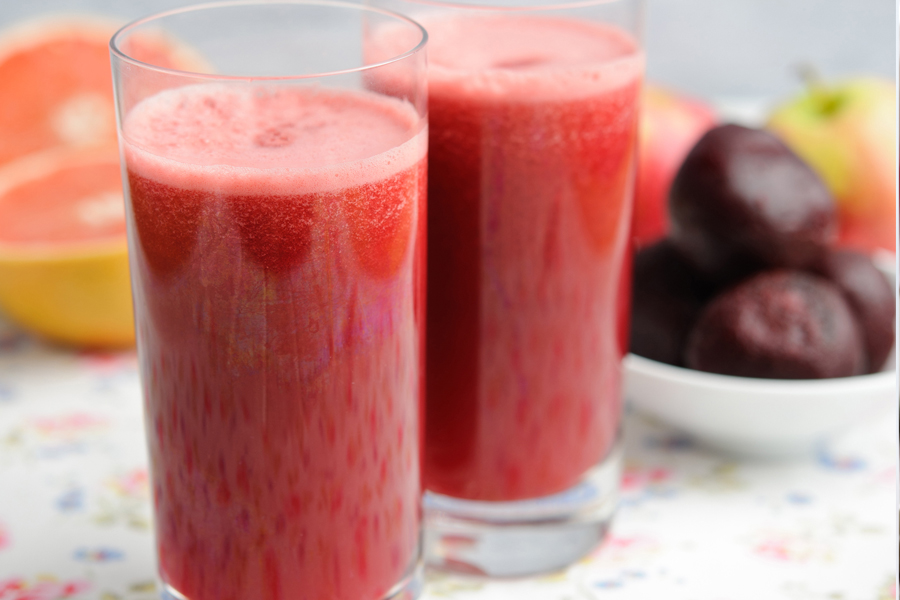 Beetroot, apple & grapefruit juice