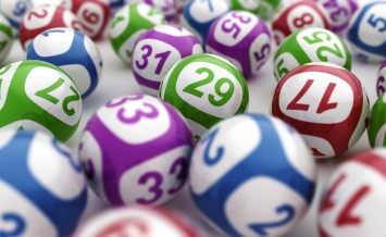 3d rendering of lottery balls