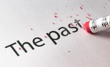 Removing word with pencil's eraser Erasing The past