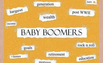 Baby Boomers Corkboard Word Concept with great terms such as generation wealth retirement and more.
