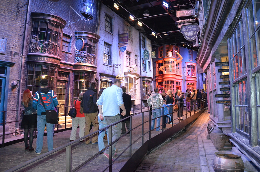 Diagon Alley where Harry Potter was filmed at the Warner Bros. s
