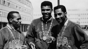 Cassius Clay (Mohammad Ali) wins gold medal for Boxing during the 1960 Summer Olympics in Rome.