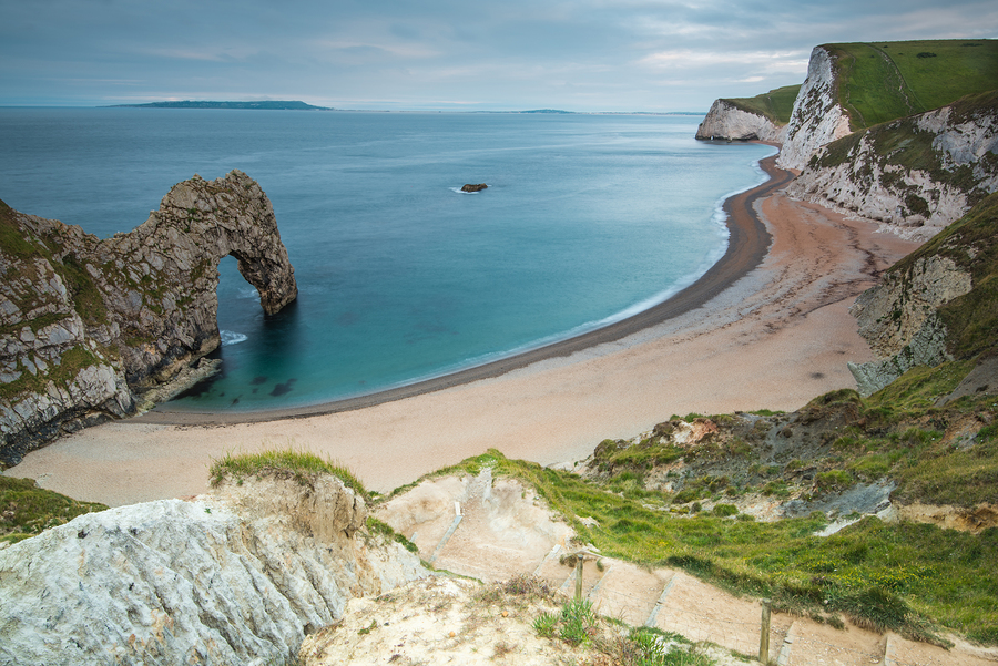 Durdle Door arch on the Jurassic Coast in Dorset