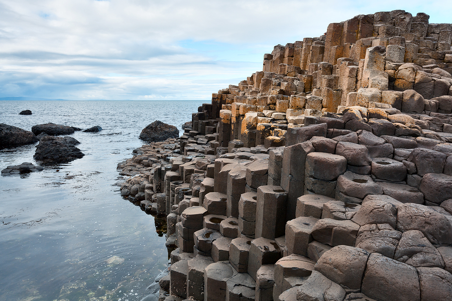 The Giant's Causeway in Antrim, Northern Ireland