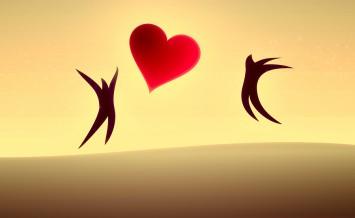 In love. Illustration.
