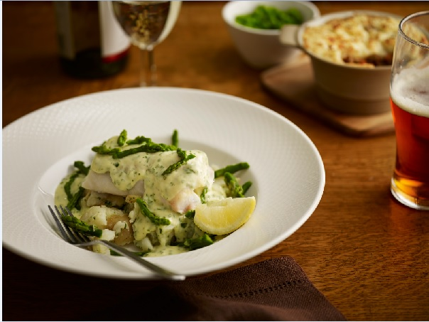Cod and Parsley Sauce