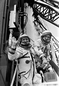 18 March - Cosmonaut Alexey Leonov becomes the first person to walk in space after leaving his spacecraft Voskhod 2 for 12 minutes.