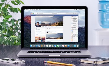 Facebook Timeline In User Profile On The Apple Macbook Pro Retin