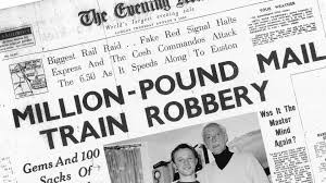8 August – The infamous Great Train Robbery takes place in Buckinghamshire. A Royal Mail train heading between Glasgow and London is apprehended by a 15-strong gang of robbers, the group stole over £2.6 million and fled to Leatherslade Farm. Evidence recovered there would lead to the arrest and conviction of most of the gang.