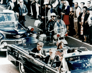 22 November – American President John F. Kennedy is assassinated in Dallas, Texas while travelling with his wife in a presidential motorcade.