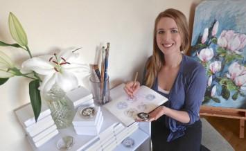 Jane Vanroe Designer Compact Mirror flowers
