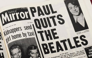 10 April - Paul McCartney announces his departure from the Beatles. The band would formally split after a decade of playing music together in December that year.
