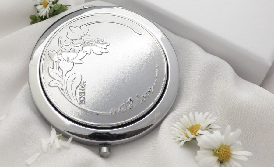 Vanroe daisy gift compact mirror