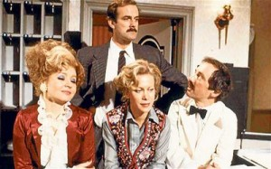 Sitcom Fawlty Towers is broadcast for the first time on BBC 2.