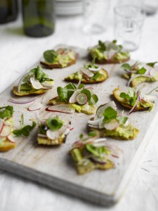 toasted sourdough with avocado, radish and watercress - copy