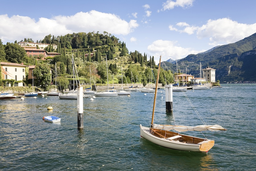 The harbour of Pescallo in Bellagio, a town on the Como Lake, Italy