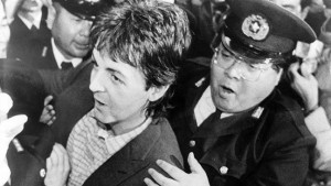 16 January – Paul McCartney is arrested in Tokyo for drug possession. The remaining leg of McCartney's and Wings' tour was cancelled. He would spend nine days in jail.