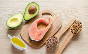 Food With Unsaturated Fats: avocado, fish, linseed and walnuts