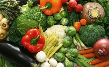 A group of fresh and mixed vegetables