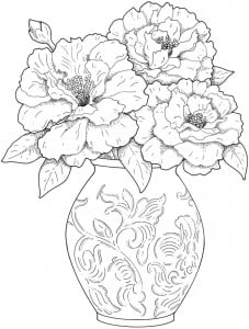 FlowerVaseColouringBook