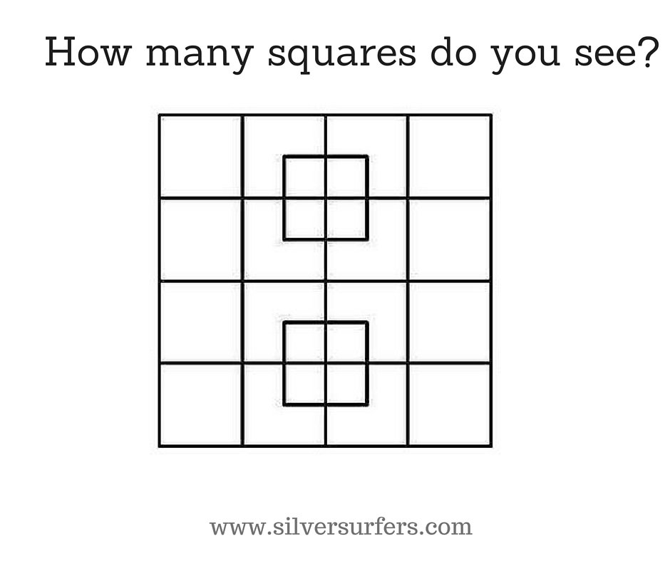 How many squares do you see-