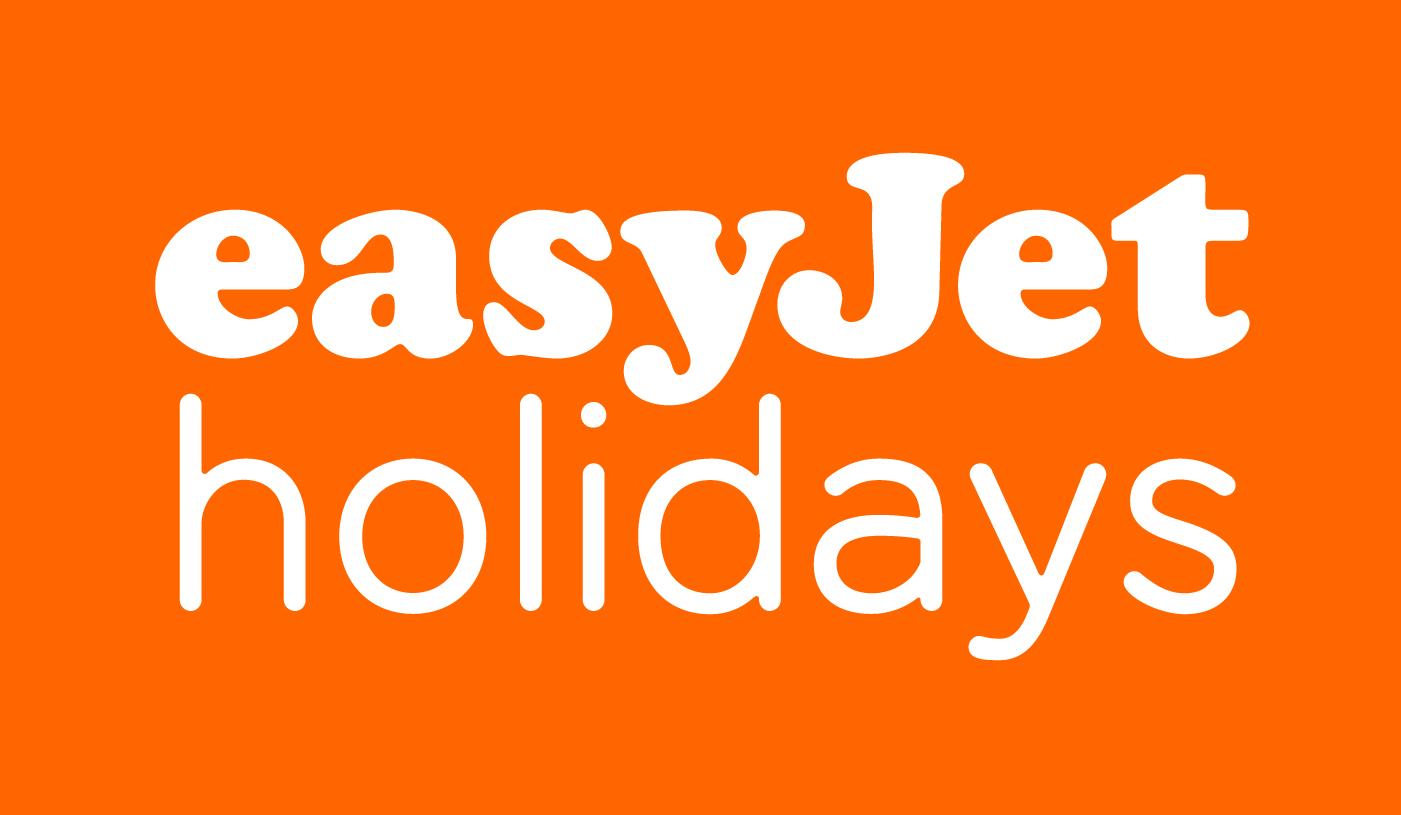easyJet holidays logo stacked RGB