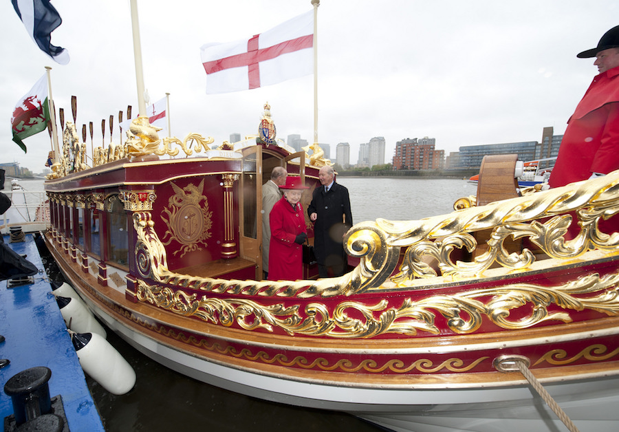 The Queen celebrated her Diamond Jubilee in 2012, celebrating 60 years as ruling monarch. Today, she is the longest serving British Monarch in history. She is pictured here on board Gloriana, the Royal Barge, which carried her down the River Thames with an 1000-strong flotilla for the Diamond Jubilee Pageant.